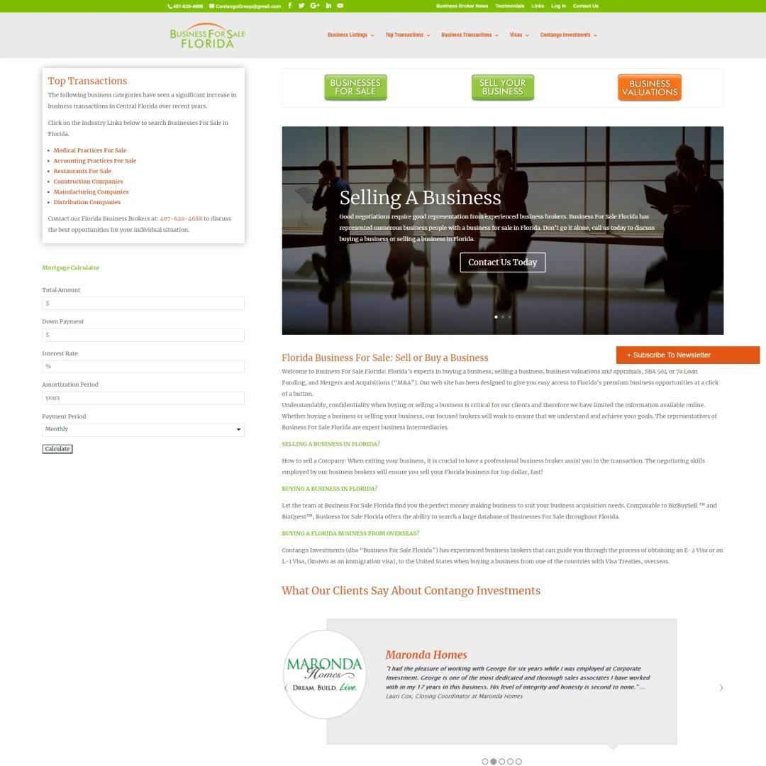 Business For Sale Florida Website Design and Development
