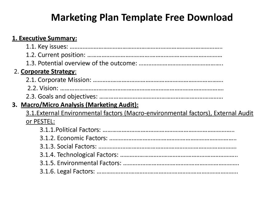 140248277 - Marketing Plan Free Download