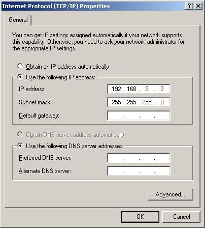 tcpip - 192.168.2.1 Change Password