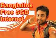 Banglalink free 5GB internet offer
