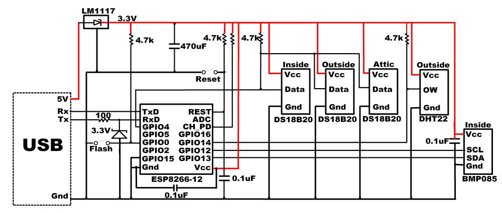 medium resolution of esp8266 weather sensor schematic