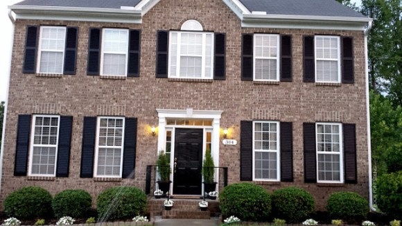 Exterior Home Improvements with Black