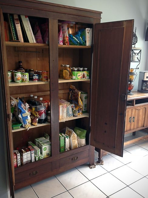 turn wardrobe into pantry