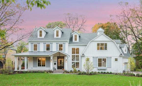White Barn House Style Home