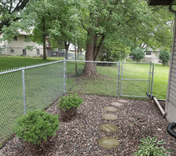 chain link yard fence
