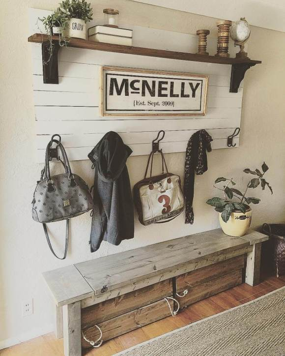 Personalized Mud Room Rack for Accessory
