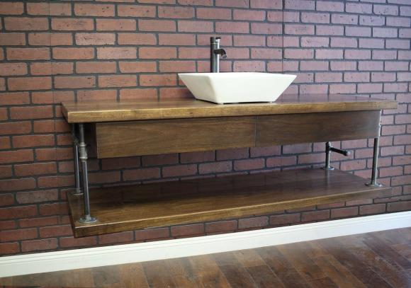 Floating-Bathroom-Vanity-with-Two-Drawers-and-Pipe