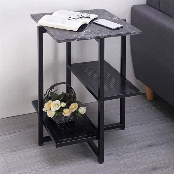 Asymmetric-Black-Metal-for-Unique-Nightstand
