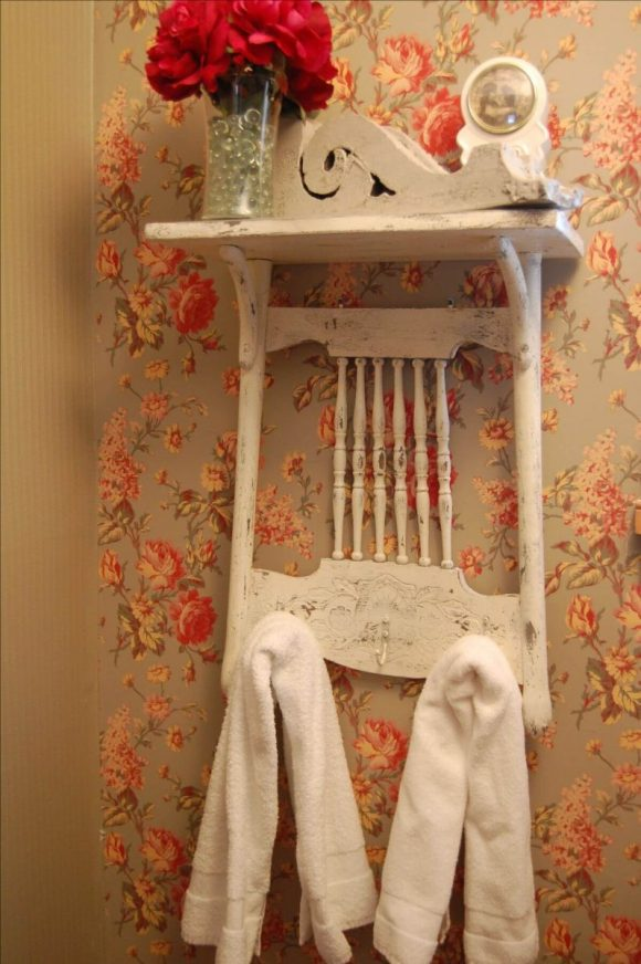 Chair Mounted Towel Storage