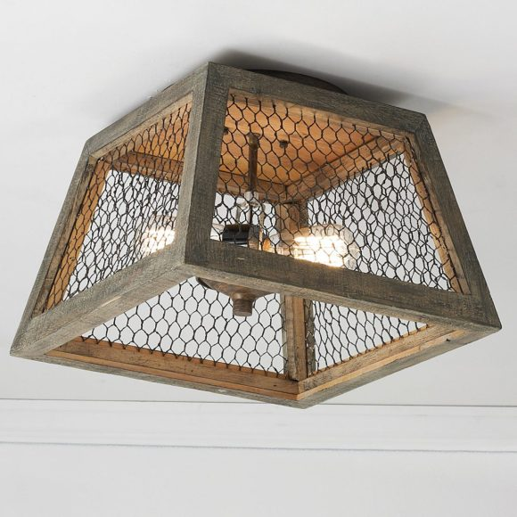 Chicken Wire Hanging Light