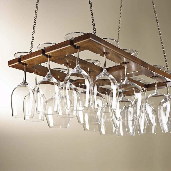 Hanging Glass Storage Rack