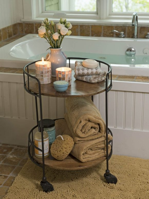 Rolling Toiletries Table