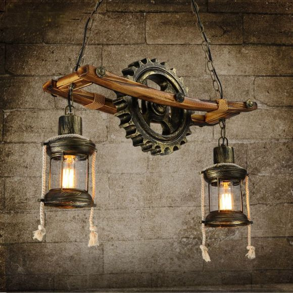 Vintage Chandelier from Ladder