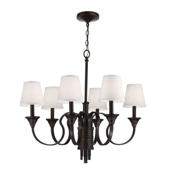 Weathered Iron Chandelier for Farmhouse Kitchen Lighting