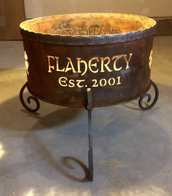 Personalized Portable Fire Pit with Family Name