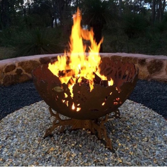 Hand-crafted Rustic Fire Bowl