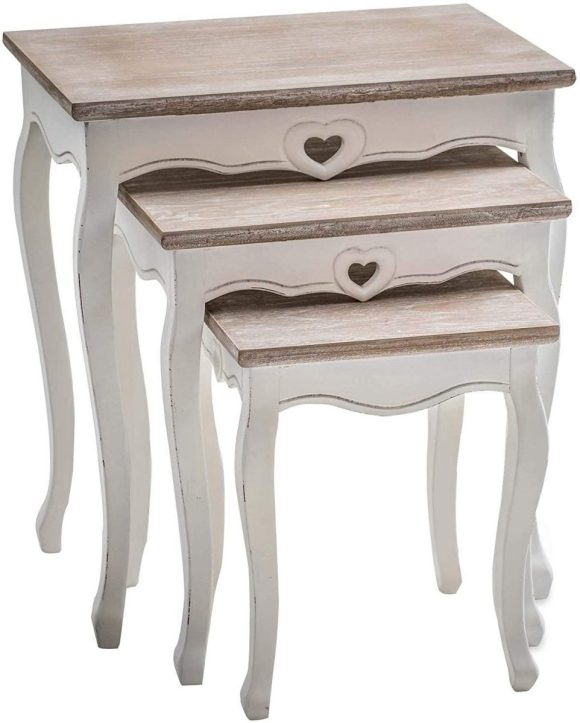 Repainted Side Table for Shabby Chic Furniture