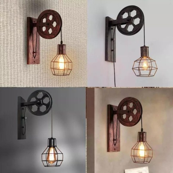 Pulley Sconces