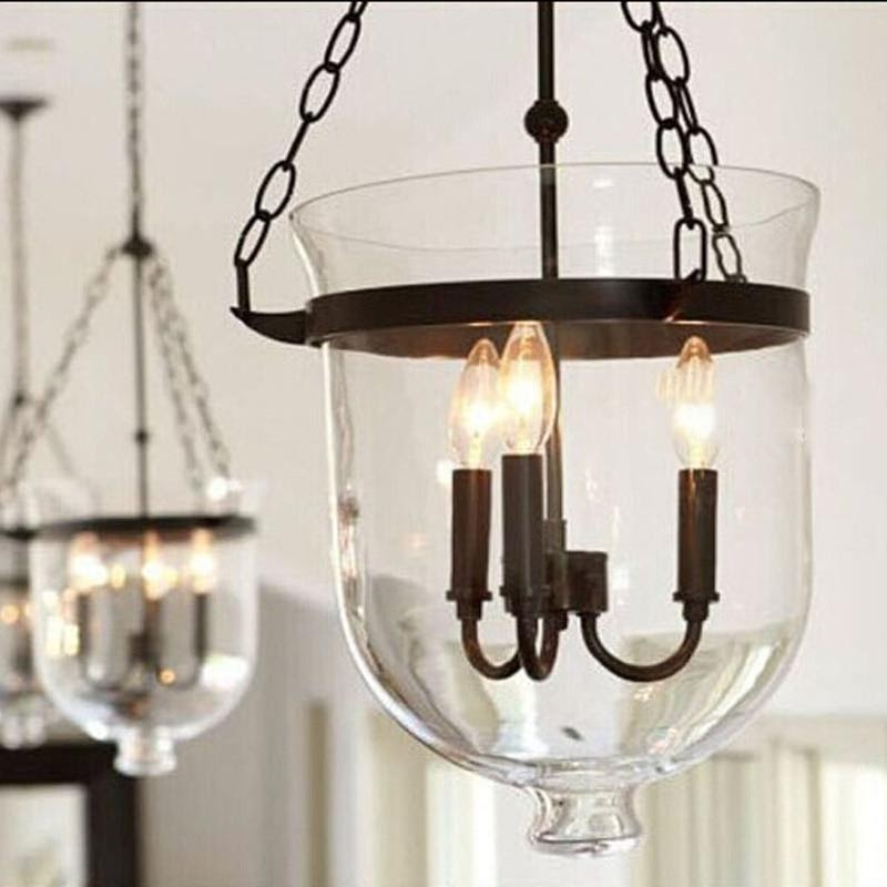 Chandelier in Bell Jar Cover