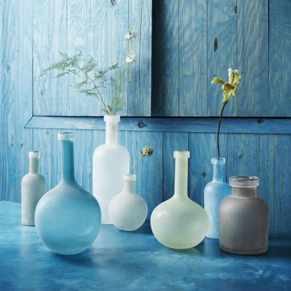 Artificial Frosted Sea Glass Vase