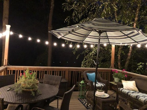 Cozy Deck Decor with String Lights