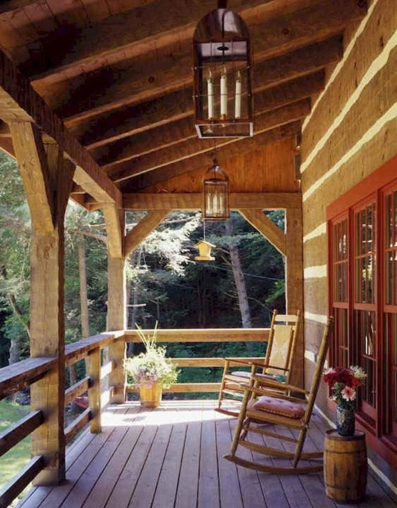 Rustic Style Deck Decor