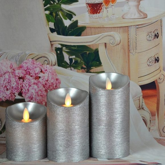 Glittering Design for Candle Decoration