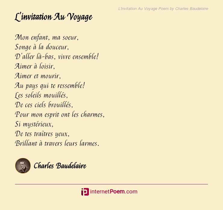 voyage poem by charles baudelaire