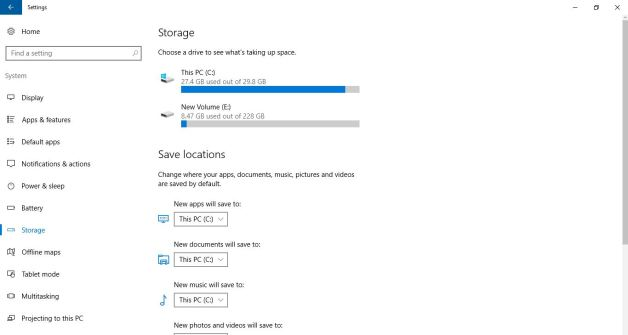windows 10 storage manager
