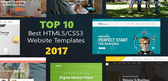 Top 10 best html5 css3 website templates 2017 internet for What are the best websites