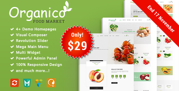 Organico - Fresh Fruits Responsive WooCommerce WordPress The