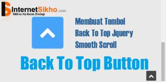 Wordpress साईट में back to top button कैसे add करे ?