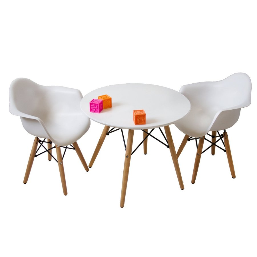 Mid Century Kids Eames Style Modern Round Table With