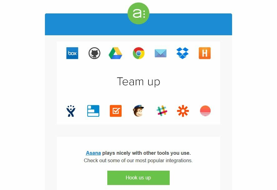 E-Mail Asana Integrationen