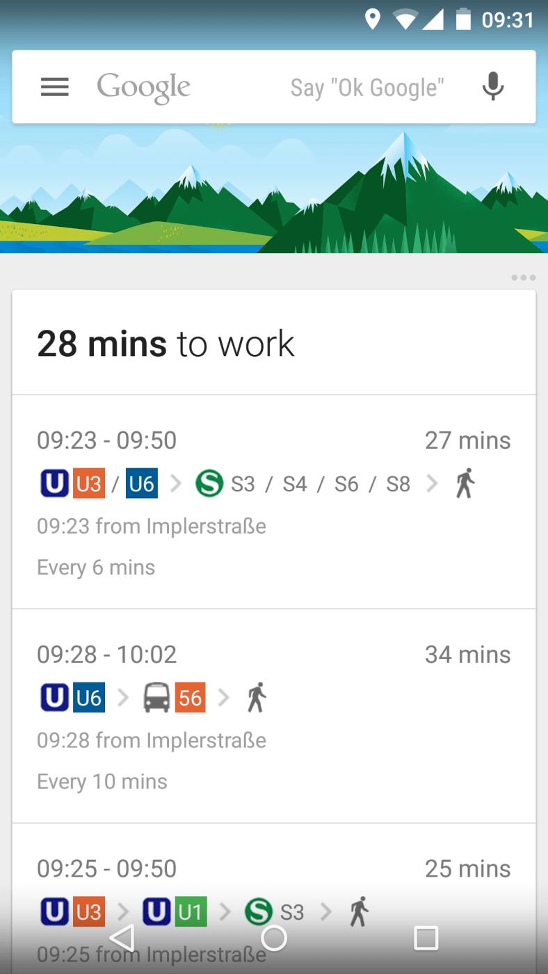 Google Now Traffic Info