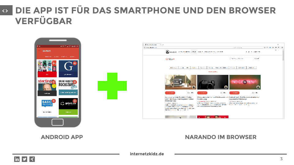 narando App mobile und browser
