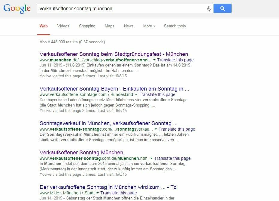 Suchergebnisse Verkaufsoffener Sonntag München