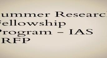 Summer Research Fellowship Program – IAS SRFP by Radha Vishnamsethy, Nagarjuna University (Part -2)