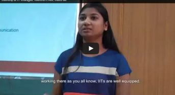 Video: IIT Kharagpur Intern shares her feelings