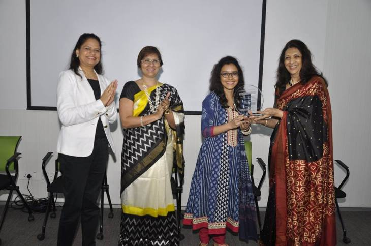 From L-R: Ms. Prerana Langa (CEO, YES FOUNDATION), Ms. Namita Vikas (Member, Governing Council, YES FOUNDATION), Kimberly Rowe (Fellow), Dr. Indu Shahani (Ex-Sheriff, Mumbai, Academic Council Chair, ISDI)