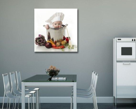 stampa su tela-piccolo chef