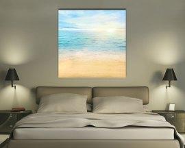 stampa su tela-sabbia dorata nel mare