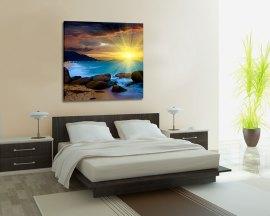 Stampa su tela-tramonto sul mare