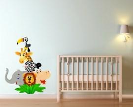 adesivo murale-simpatici animali