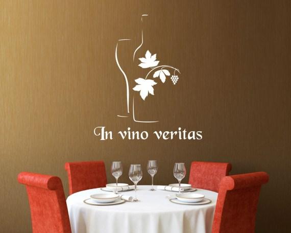 Adesivo murale-in vino veritas