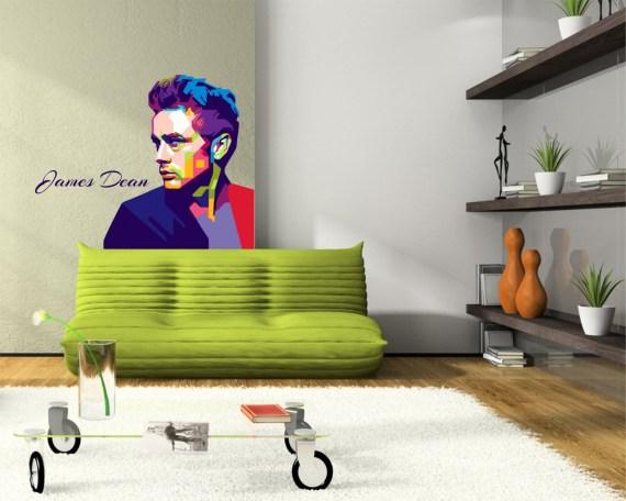 adesivo murale-james a colori
