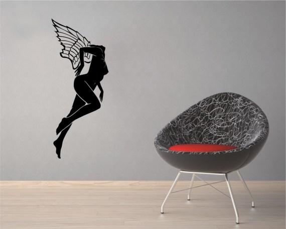 adesivo murale-angel girl