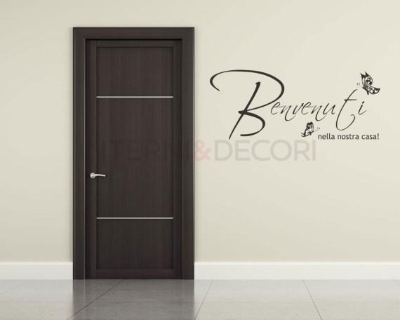 Benvenuti nella nostra casa-adesivo da parete