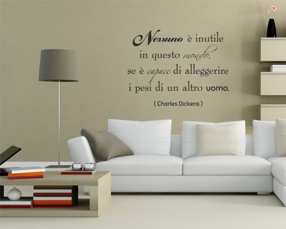 Adesivo murale-Charles Dickens-nessuno è inutile..