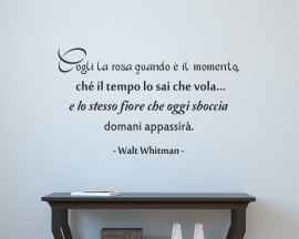 adesivo murale-Walt Whitman - Carpe Diem
